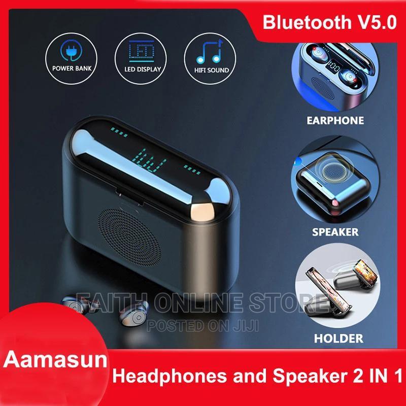 2 In 1 F9 Bluetooth Earphone