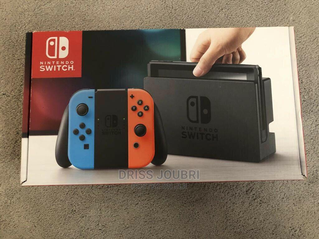 Nintendo Switch Console With Neon Blue/Neon Red Joy-Con   Video Game Consoles for sale in Arusha, Arusha Region, Tanzania