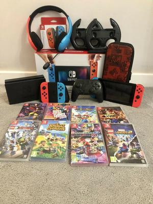 Nintendo Switch Console With Neon Blue/Neon Red Joy-Con | Video Game Consoles for sale in Arusha Region, Arusha