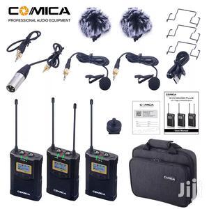 Comica CVM-WM100 Plus UHF 48-channel Wireless Dual Lavalier Microphone | Photo & Video Cameras for sale in Dar es Salaam, Kinondoni