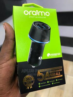 Oraimo 2 USB Fast Car Charger | Accessories for Mobile Phones & Tablets for sale in Dar es Salaam, Kinondoni