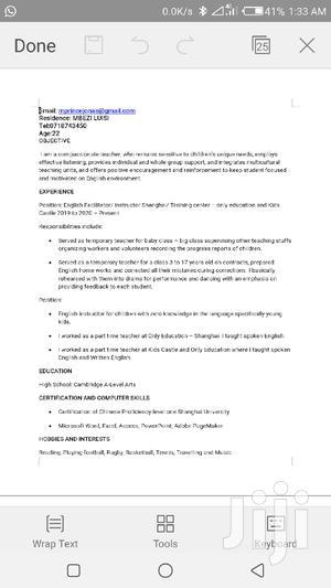 Content Writer CV | Advertising & Marketing CVs for sale in Dar es Salaam, Kinondoni