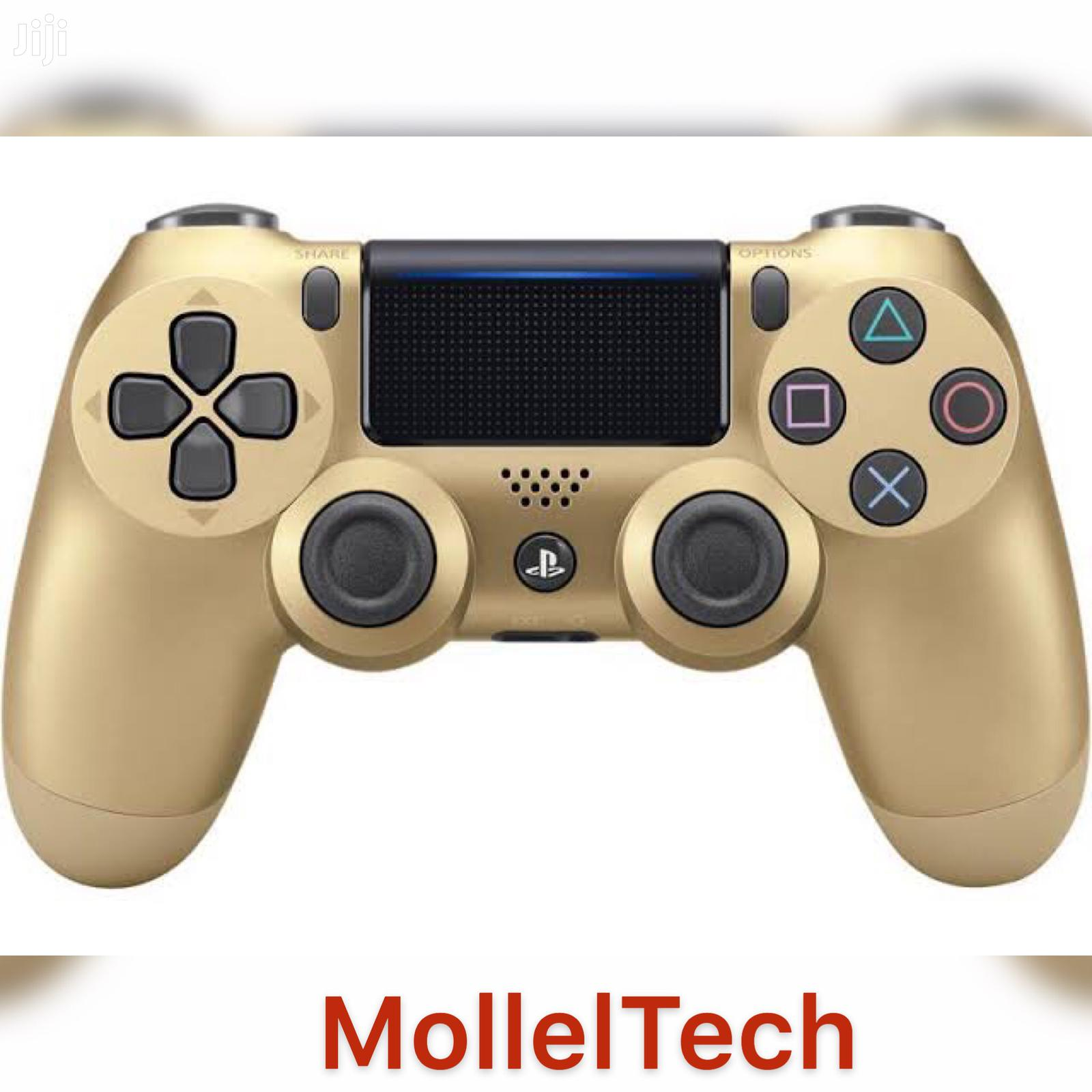 Dualshock 4 Wireless Controller For Playstation 4 - Gold   Video Game Consoles for sale in Ilala, Dar es Salaam, Tanzania