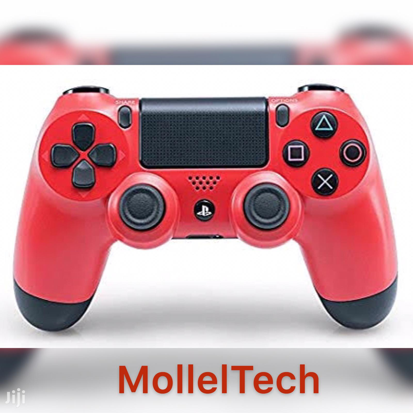 Dualshock 4 Wireless Controller For Playstation 4 - Red | Video Game Consoles for sale in Ilala, Dar es Salaam, Tanzania