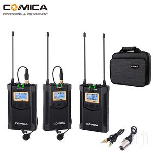 Comica CVM-WM100 Plus UHF 48-channel Wireless Dual Lavalier | Accessories & Supplies for Electronics for sale in Dar es Salaam, Kinondoni