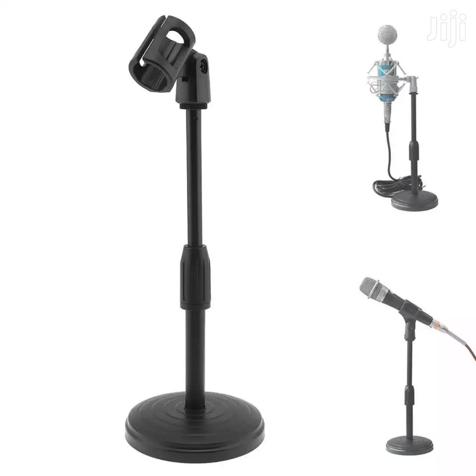 Portable Desktop Lifting Plastic Weight Disc Microphon Stand