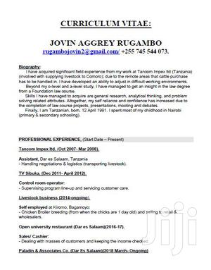 Advertising CV | Advertising & Marketing CVs for sale in Dar es Salaam, Kinondoni